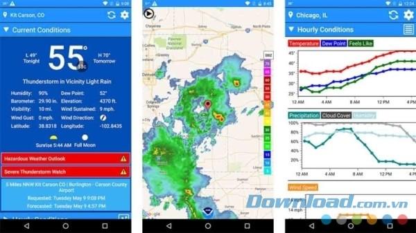 ứng dụng thời tiết tốt nhất trên CH Play
