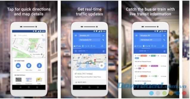 Ứng dụng bản đồ Google Maps Go