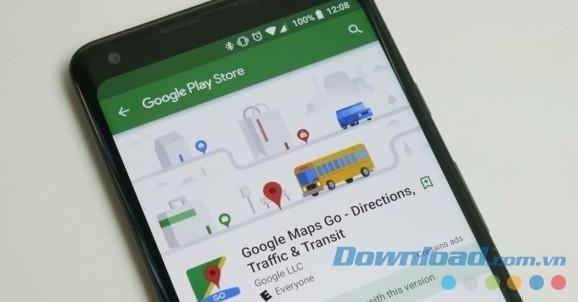 Giao diện Google Maps Go