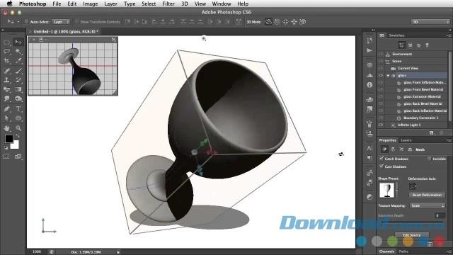 Hướng dẫn tạo ảnh 3D trong Photoshop