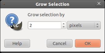 2 giúp làm dày đường viền trong GIMP