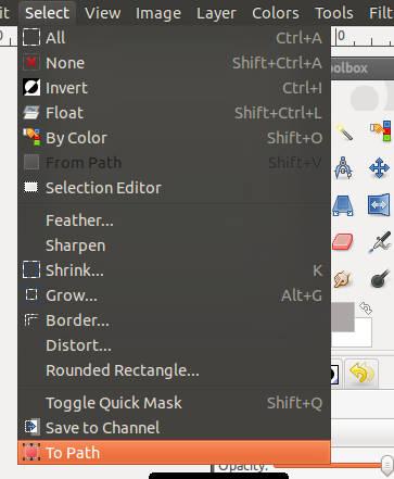 Tạo đường dẫn ảnh trong GIMP