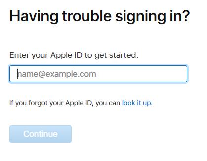 Tra Apple ID nếu quên