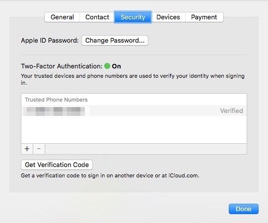Bật bảo mật hai lớp trên Mac