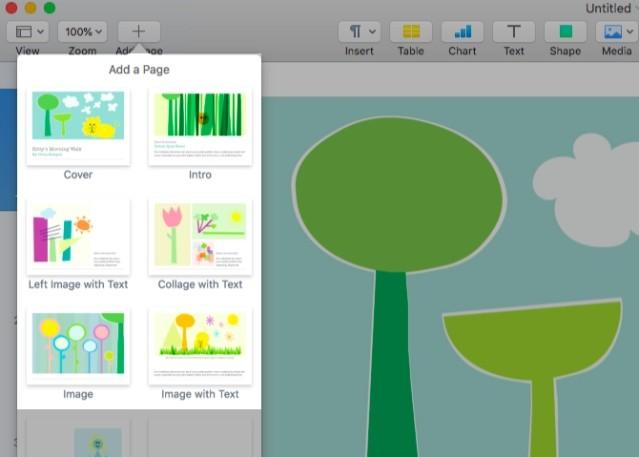 Thêm trang vào tài liệu Pages cho Mac