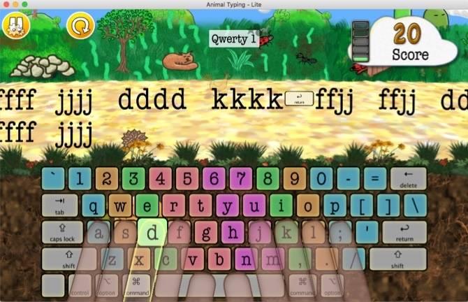 animal typing lite mac