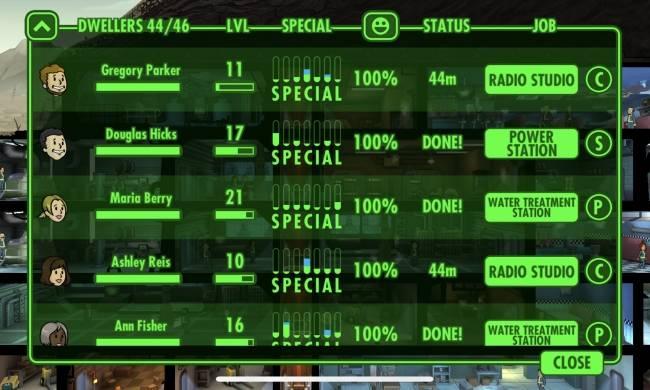 Duy trì chỉ số hạnh phúc cho nhân viên ở Fallout Shelter