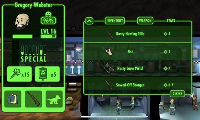 Vũ khí trong Fallout Shelter