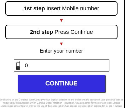 Một ví dụ web ẩn tính phí mobile