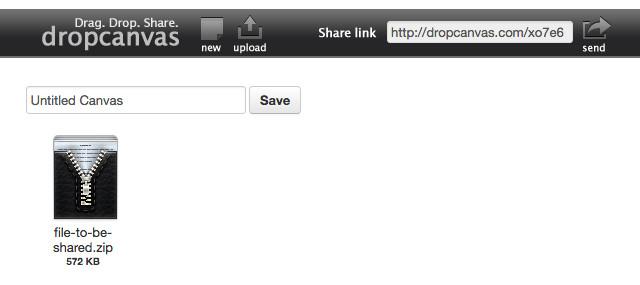 DropCanvas có quy trình chia sẻ file hơi phức tạp