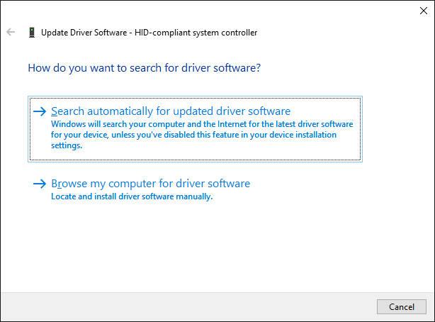 Cập nhật phần mềm driver