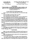 Quyết định về phân cấp nhiệm vụ chi thực hiện Luật Dân sự quân tự vệ giữa các cấp ngân sách