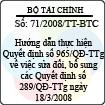 Thông tư số 71/2008/TT-BTC
