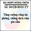 Công điện 04/2013/CĐ-BNN-TY