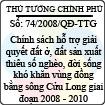 Quyết định số 74/2008/QĐ-TTG