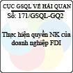 Công văn 171/GSQL-GQ2