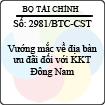 Công văn 2981/BTC-CST
