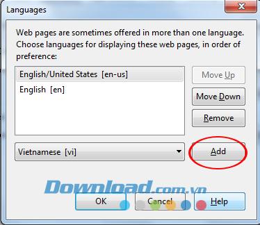 Hướng dẫn thay đổi ngôn ngữ trình duyệt Firefox