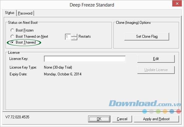 Cách gỡ bỏ phần mềm đóng băng Deep Freeze Standard