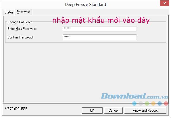 Đổi mật khẩu Deep Freeze