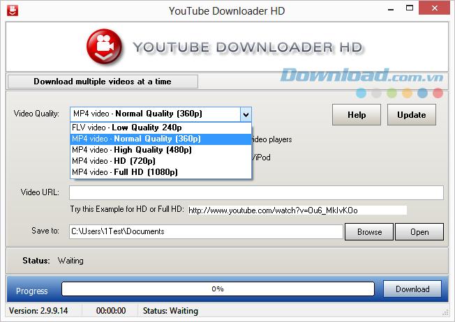 Tùy chọn chất lượng video