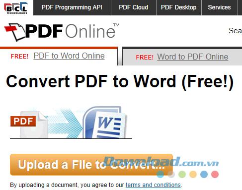 Chuyển đổi Word sang PDF trực tuyến miễn phí