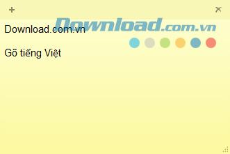 Hướng dẫn gõ tiếng Việt trong Sticky Notes