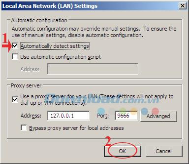 Khắc phục lỗi không truy cập được Internet sau khi tắt Ultrasurf