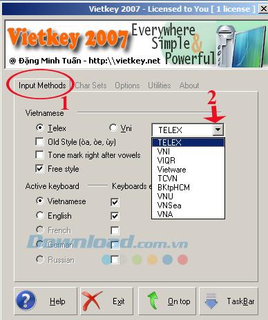 Hướng dẫn sử dụng bộ gõ tiếng Việt Vietkey