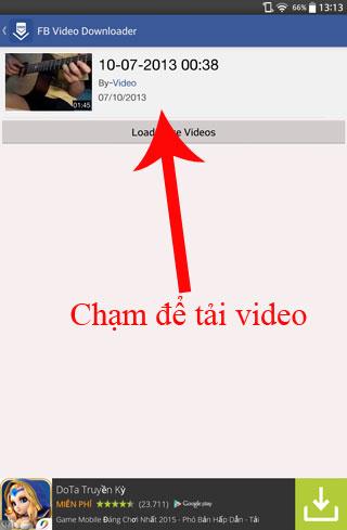 tải video facebook về điện thoại