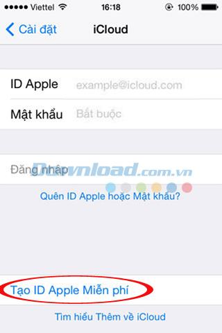 Hướng dẫn tạo tài khoản iCloud, Apple ID miễn phí