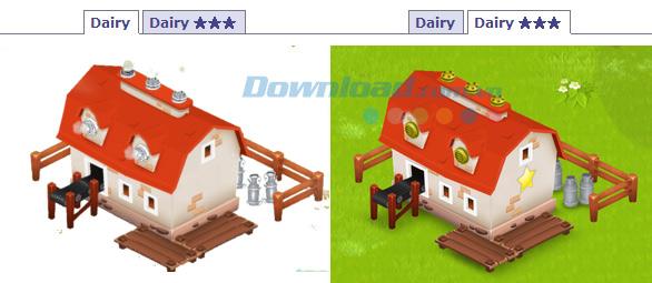 Cách sử dụng nhà máy chế biến sữa trong Hay day