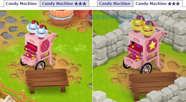 Cách sử dụng máy làm kẹo trong game Hay day