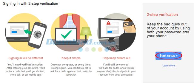 Cách tạo bảo mật 2 bước cho Google Mail
