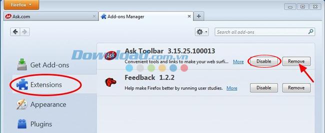 Hướng dẫn gỡ bỏ Ask toolbar trên trình duyệt Internet