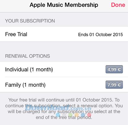 Cách tắt tính năng gia hạn của Apple Music hiệu quả nhất