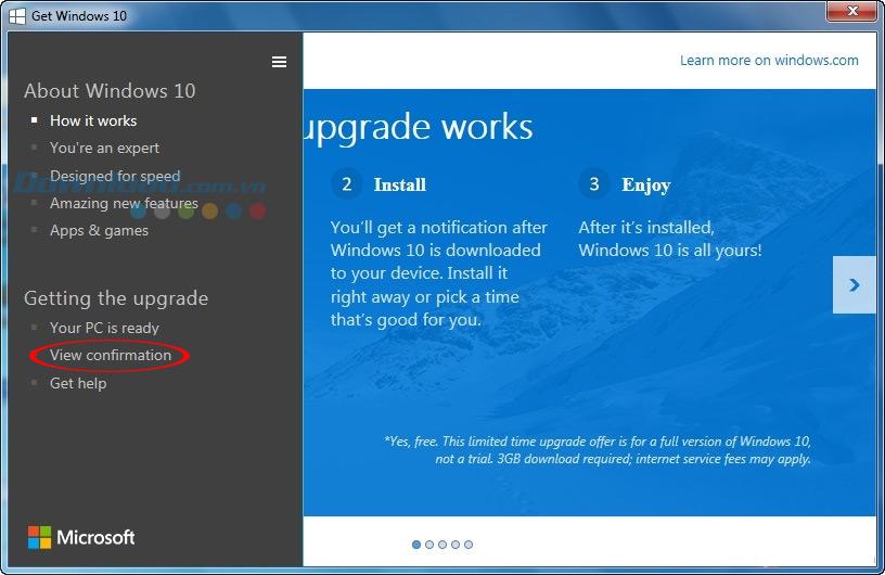Nâng cấp lên Windows 10 từ Windows 7, 8
