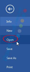 Chọn vào Open