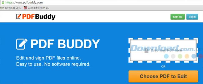 Giao diện chính của pdfbuddy