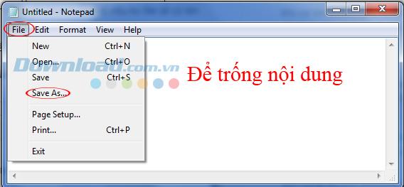 Chọn vào File / Save as để lưu lại file Host