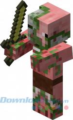 Quái vật nửa heo nửa zombie trong game Minecraft