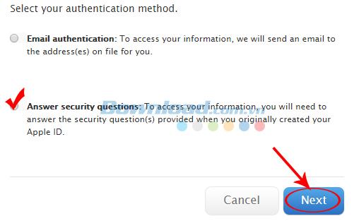 Chọn một trong hai cách để khôi phục mật khẩu Apple