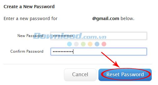 Nhập lại mật khẩu Apple