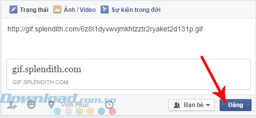 Đăng lên Facebook