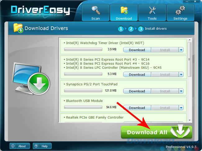 Chọn vào Download all