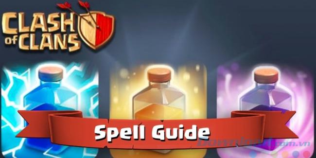 Sử dụng phép thuật khi chơi game Clash of Clans