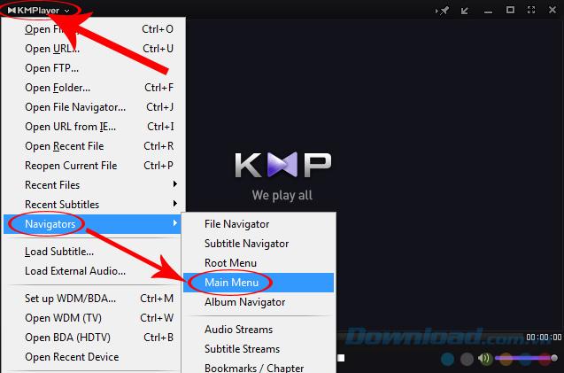 Tên của phần mềm KMPlayer