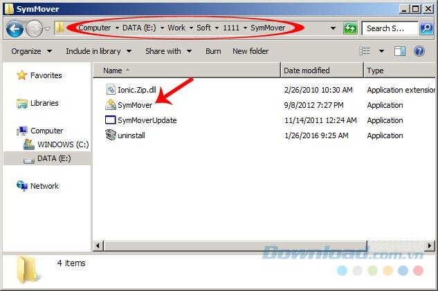 chạy file SymMover