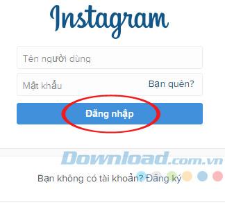 Đăng nhập vào Instagram