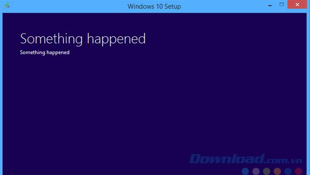Lỗi Something Happened